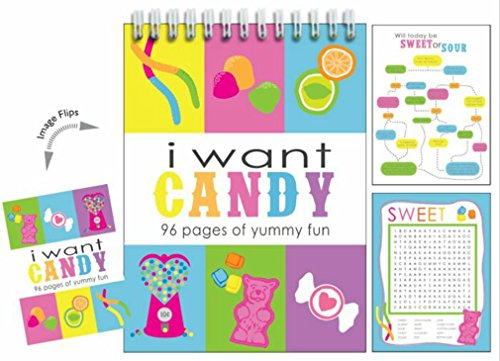 iscream I Want Candy 96-page Spiral Bound 8.5 Activity Book with Picture-Flip Cover