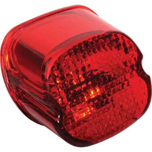 Specialties Drag Replacement (DRAG SPECIALTIES Laydown Taillight Lens W/Bottom Tag Window Red 12-0402D 12-0402D)