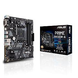 Asus Prime B450M-A/CSM AMD AM4 (3rd/2nd/1st Gen Ryzen Micro-ATX commercial motherboard (1Gb LAN, ECC Memory, D-Sub/HDMI…