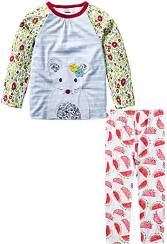MSsmart Toddler Boys Clothes Summer Outfits Cotton Tee and Short Sets 2T-7T
