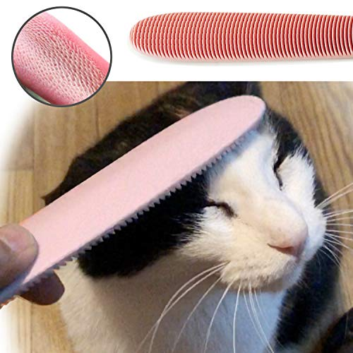 Blackhole Real Cat Tongue Textured Grooming Brush/Stick Best Nurturing Tool for Kitten Dual-Ended Brush for Small and Large Areas (Grayish Pink)
