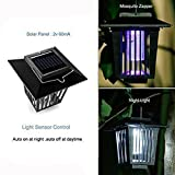 Handfly New & Improved Solar Powered Zapper Outdoor Cordless Flying Insect Killer 8 Hour Operation Beautiful Garden Lamp Portable LED Stinger for Mosquitoes/Moths/Flies