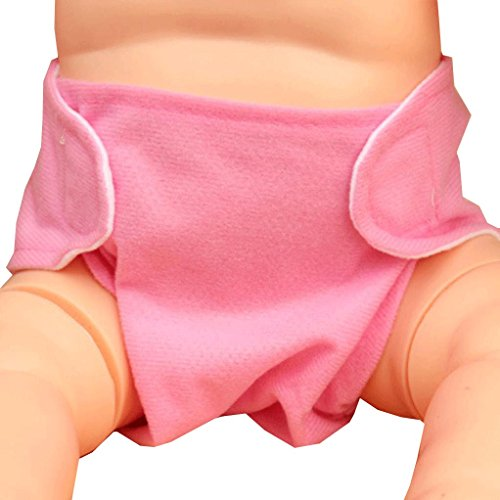 Misaky Baby Adjustable Reusable Washable Leakproof Cloth Nappy Diaper (Pink)