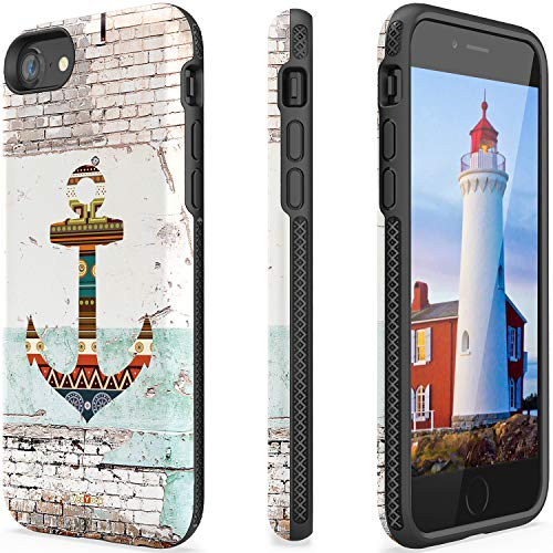 Anchor Case for iPhone 6 iPhone 6s Durable Card Holder with Ring Holder Kickstand Shockproof Impact Resistant Protective With Ring Stand Kickstand 360 full protection Slim Dual Layer 4.7 inch (Anchor)