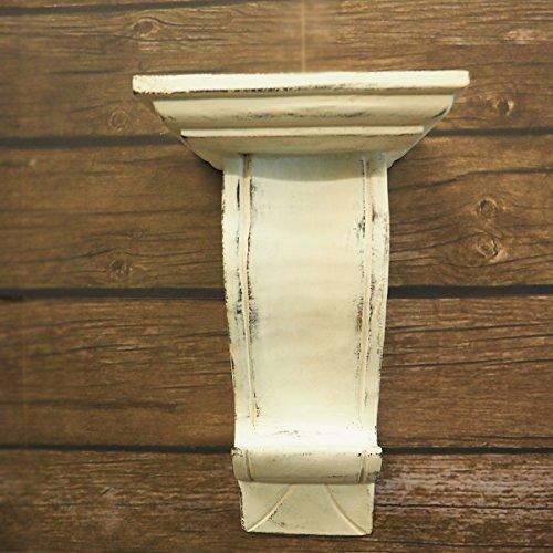 CinMin Handcarved Corbel Wood Wall Bracket/Floating Shelf (White Dorset), 10.5'' by CinMin (Image #5)