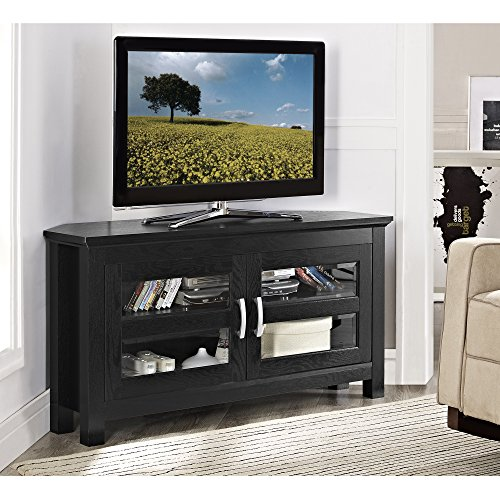 Walker Edison 44'' Cordoba Corner TV Stand Console, Black by Walker Edison Furniture Company
