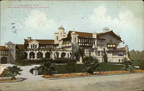 Westmoreland Place - A California Home, Westmoreland Place Los Angeles Original Vintage Postcard