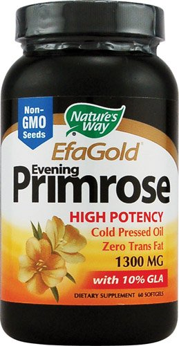 Nature's Way Evening Primrose 1300 Mg Oil Cold Presed Softgels - 60 Ea, 8 (Natures Way Evening Primrose Oil)