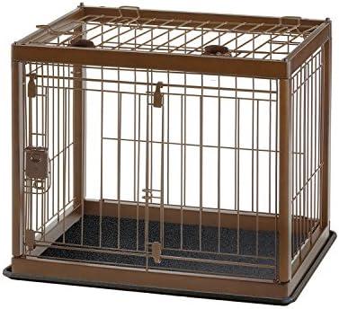 Richell Dark Brown Wooden Pet Crate
