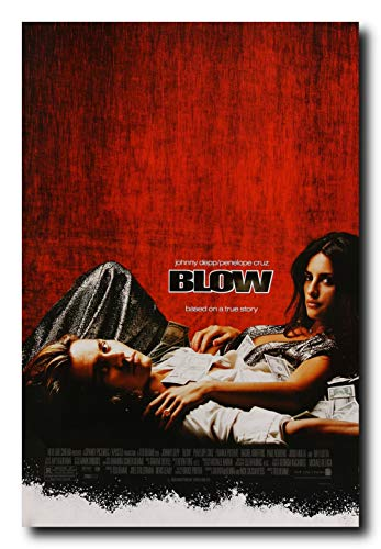 (Mile High Media Blow Movie Poster 24x36 Inch Wall Art Portrait Print - Johnny Depp - Penelope Cruz )