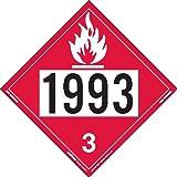 Labelmaster Z-IDF UN 1993 Flammable Liquid Hazmat