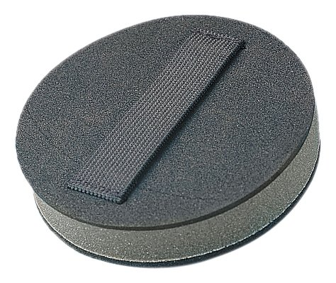 3M Stikit Disc Hand Pad 05589, 6'' Diameter x 1'' Thick, Black (Pack of 40) by 3M