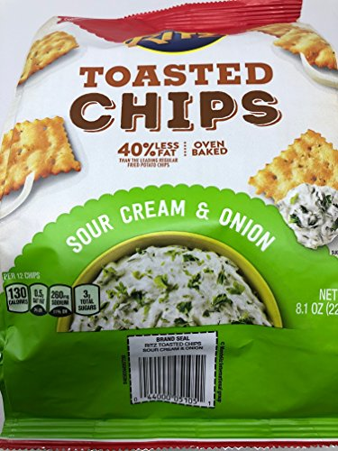 Ritz Toasted Chips Sour Cream & Onion 8.1 oz (2 Pack)