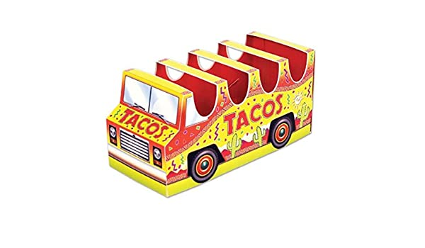 3-D Taco Holder Truck Centerpiece Fiesta Party Cinco De Mayo Decorations
