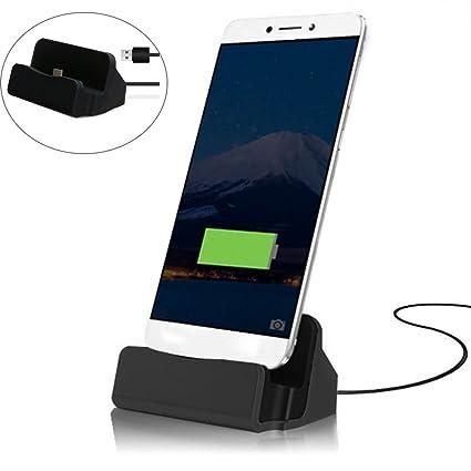 MaxKu Tipo C estación de Carga (Incluye 1 m de Cable) Desktop Dock Soporte Cargador Soporte con USB de c Conector para Huawei P20/Huawei P20 ...