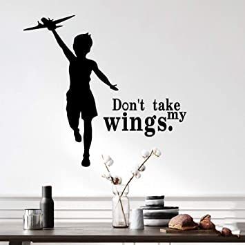 Cunya Black Don T Take My Wings Inspirational Quotes Wall Decor Stickers Diy Removable Wall Art Wallpaper Home Decoration For Living Room Bedroom And Farmhouse Decor Amazon Ca Baby