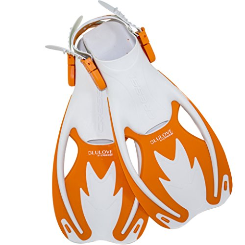 Cressi Rocks Kids Fins (White Orange