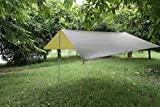 ELEOPTION Portable Lightweight Waterproof Survival Tarp Shelter Suitble for 3 to 4 Person 9.5 by 9.5 Foot with 6 Rings AsOutdoor Rain Tarp Tent Tarp Shelter Sun Shade