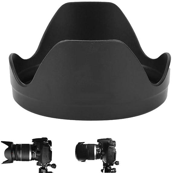 Delaman Lens Hood EW-78E Durable Plastic Mount Lens Hood for Canon EW-73D EF-S 18-135mm f3.5-5.6 is USM Lenses