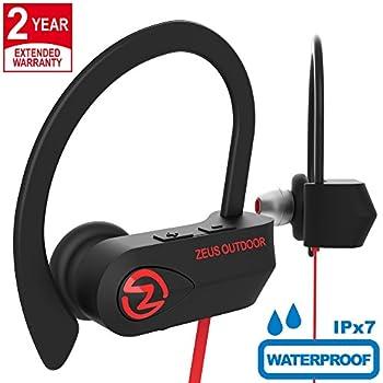 ZEUS Bluetooth Headphones Wireless - Mens Womens Running Headphones - Best Sports Wireless Earbuds Earphones - IPx7 Wireless in-Ear Headphones - Sport ...