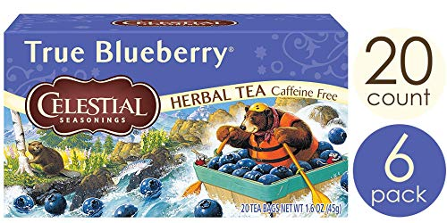 Celestial Seasonings Herbal Tea, True Blueberry, 20 Count Box (Pack of - Tea Blueberry Bags Leaf