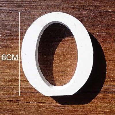 Amazon Com Mysson Wooden Alphabet Letters 1pc White Wooden