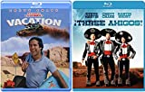 Chevy Chase Traveling Laughs (Double Feature) National Lampoon's Vacation & Three Amigos 2 Blu-Ray Bundle
