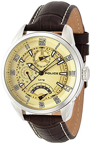 POLICE watch flash 10th Anniversary model 5 ATM water resistant 14407JS-06 men's [regular imported goods]