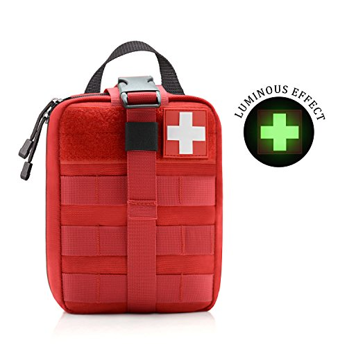 - WishaLife 1000D Tactical MOLLE Rip-Away EMT Medical First Aid IFAK Blowout Pouch (Bag Only)