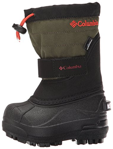 Columbia Baby Powderbug Plus II Pull-On Boot, Black, Spicy, 5 M US Toddler