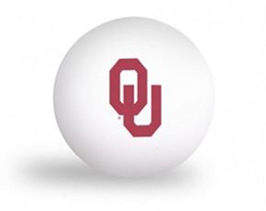 NCAA University of Oklahoma Sooners 6 pack Ping Pong Balls by Laser Magic