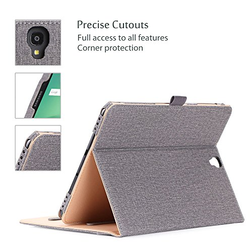 ProCase Galaxy Tab S3 9.7 Case, Stand Folio Case Cover for Galaxy Tab S3 Tablet (9.7 Inch, SM-T820 T825 T827), with Multiple Viewing Angles, Document Card Pocket -Grey