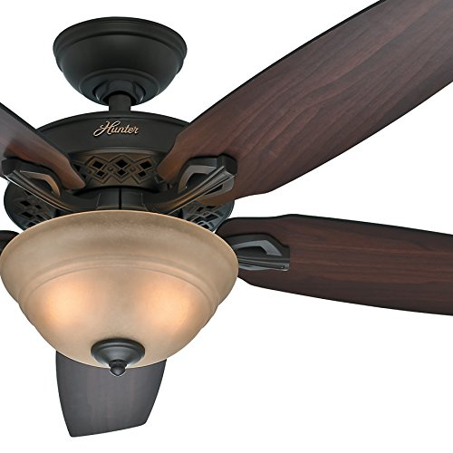 """Hunter Fan 52"""" New Bronze Finish Ceiling Fan with Stepped To"""