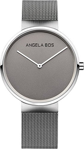 BOS His and Hers Ultra Thin Simple Stainless Steel Quartz Wrist Couple Watch for Men Women Bracklet 8010 by BOS (Image #1)
