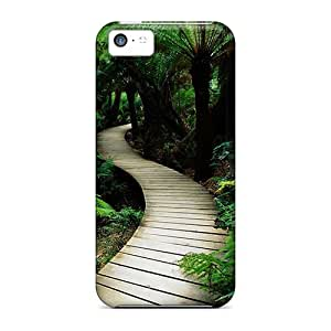 Awesome Special-G Defender Tpu Hard Case Cover For Iphone 5c- Wood Path