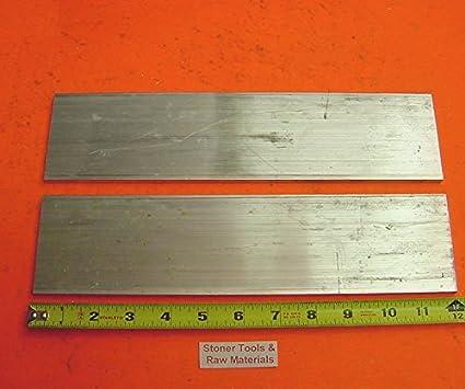 """2 Pieces 1/"""" X 2/"""" X 4/"""" Long ALUMINUM FLAT BAR STOCK SOLID 6061-T6511"""