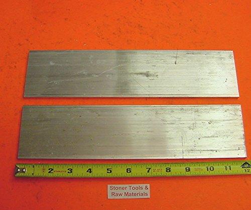 2 Pieces 1/8″ X 3″ ALUMINUM 6061 FLAT BAR 12″ long T6511 New Mill Stock .125″x 3