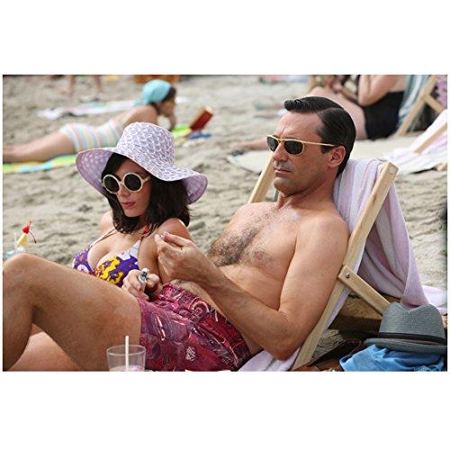 Mad Men Don and Megan Draper Relax On Beach 8 x 10 - Don Megan And Draper