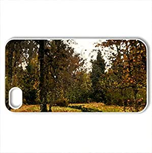 Autumn - Case Cover for iPhone 4 and 4s (Rivers Series, Watercolor style, White)