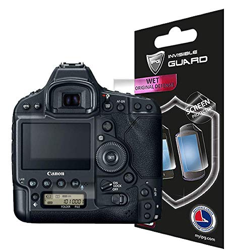 IPG for Canon EOS 1DX Mark 2 (3 Units Set 2 for Back, 1 for Upper Screen Protector with Lifetime Replacement Warranty Invisible Protective Screen Guard Skin- Smooth/Bubble -Free (Canon 1dx Screen Protector)