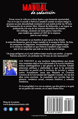 Manual de Seduccion (Spanish Edition): Lee Vincent: 9781976319525: Amazon.com: Books