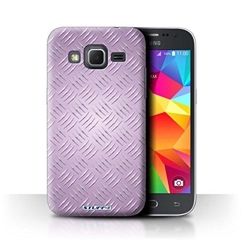 Coque de Stuff4 / Coque pour Samsung Galaxy Core Prime / Rose Design / Motif en Métal en Relief Collection