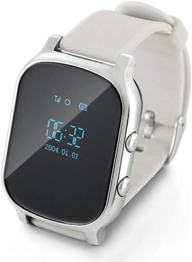 AEF Reloj Inteligente para Niños,Smartwatch Niño Impermeable con LBS GPS Soporte SOS Pantalla Táctil Despertador, Reloj Teléfono para Niños Niña 3-12 Años,Plata