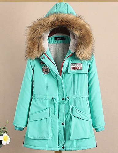Winter Long Jacket XL Slim ZHUDJ Women'S Jackets Cotton Hooded 10 Coat Colors Girls New Candy Padded Winter Green Fashion Color qqwfZ1vI