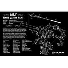 Beck Tek LLC TekMat Handgun Cleaning Mat with Colt Single Action Army Revolver Imprint, Black, 11 x 17-Inch