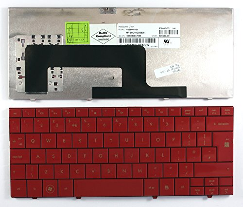 Keyboards4Laptops UK Layout Replacement Laptop Keyboard Red for Compaq Mini 733EF, Compaq Mini 733EZ, Compaq Mini 735ED, Compaq Mini 735EF, Compaq Mini 735EI