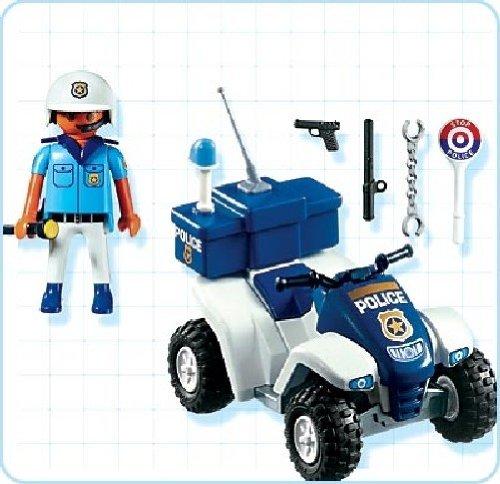 playmobil 3655 jeu de construction policier quad amazonfr jeux et jouets - Policier Playmobil