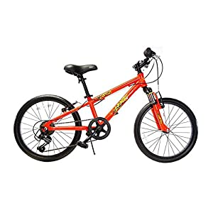 "Ryda Bikes Comet - 20"" Red Youth Boys Bike - 7 Speed All Purpose Bicycle for Kids with Flat Proof Tires"
