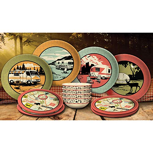 Camp Casual 12-Piece Dish Set