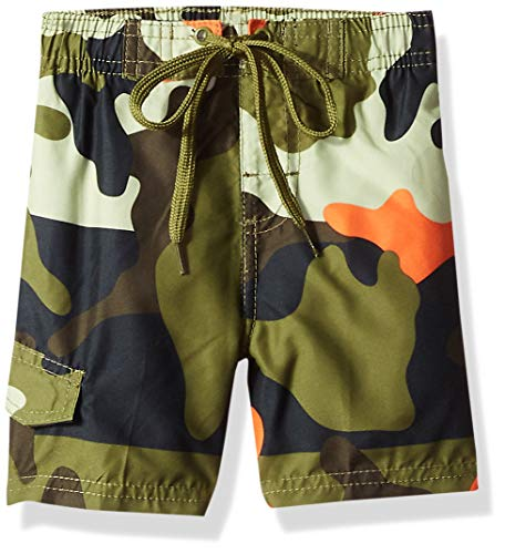 (Kanu Surf Toddler Boys' Viper Quick Dry Beach Swim Trunk, Surf Camo Army Green, 3T)